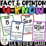 Fact and Opinion Game for Literacy Centers