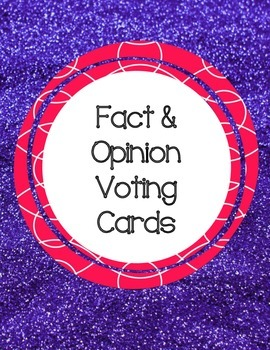 Fact and Opinion Voting Cards
