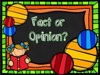 Fact or Opinion? 16 Task Cards