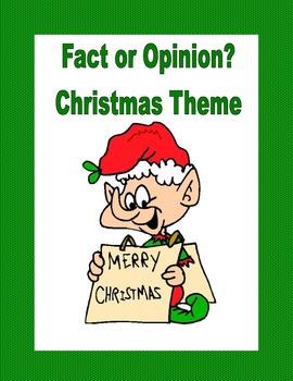 Fact or Opinion? Christmas Theme