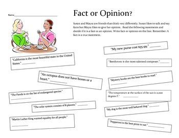 Fact or Opinion English