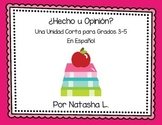 Fact or Opinion Mini Lesson (Spanish version)