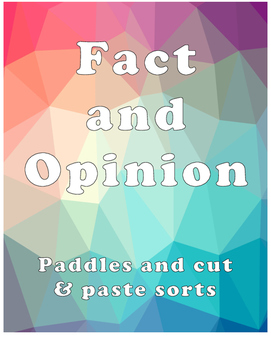 Fact or Opinion Packet