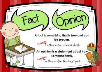 Fact or Opinion Poster
