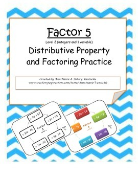 Factor 5: Distributive Property and Factoring Practice Level 2
