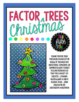 Factor Christmas Trees Craftivity