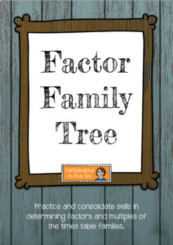 Factor Trees - Factor Family, Multiplication, Times tables
