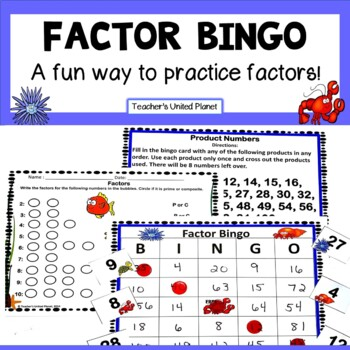 Factor Games - Factor Bingo!