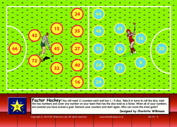 Factor Hockey Game to practice division facts