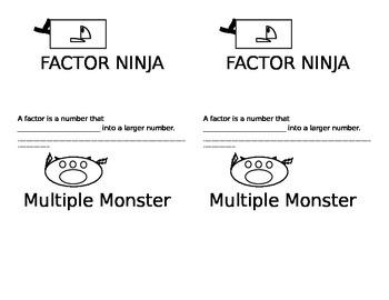 Factor Ninja & Multiple Monster for Interactive Notebooks