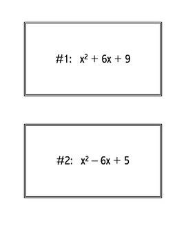 Factor Practice Cards a = 1