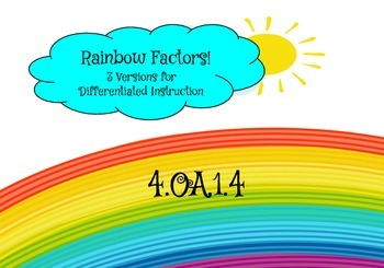 Factor Rainbows Differentiated Practice