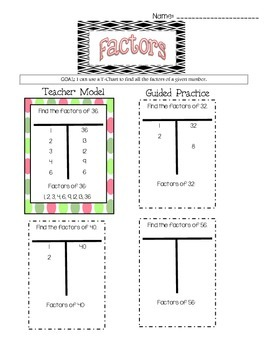 Factor T-Charts