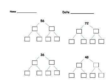 Factor Trees B