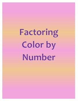 Factoring Color by Number