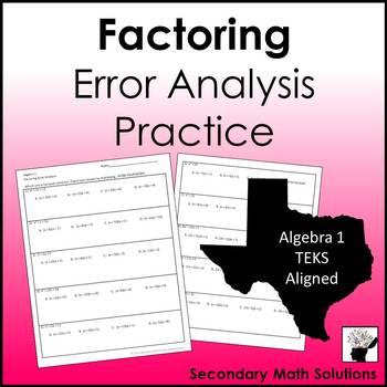 Factoring Error Analysis Practice