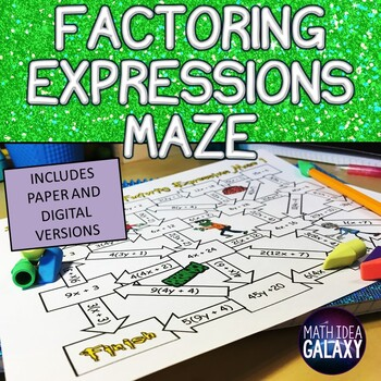 Factoring Expressions Maze Activity