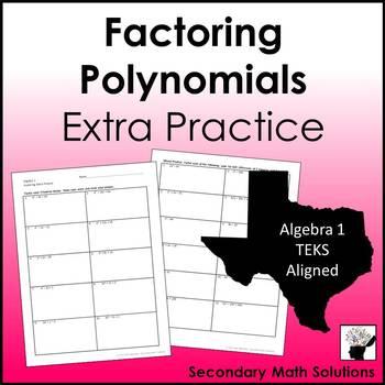 Factoring Polynomials Extra Practice