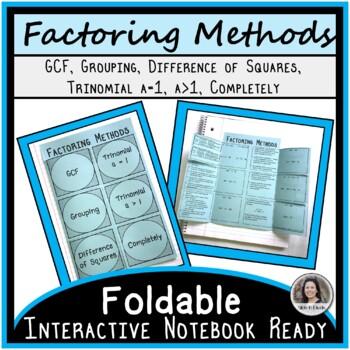 Factoring Foldable Version 1
