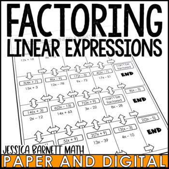 Factoring Linear Expressions Maze