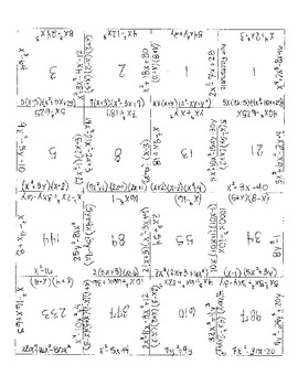 Factoring Polynomial Puzzle