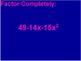 Factoring Polynomials BINGO Flipchart