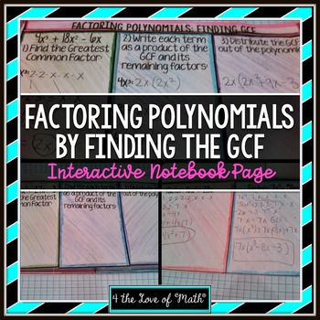 Factoring Polynomials By Finding the Greatest Common Factor