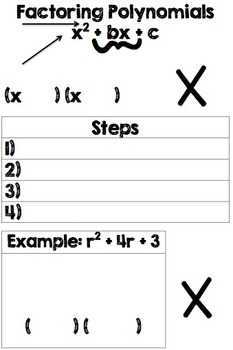 Factoring Polynomials Guided Notes