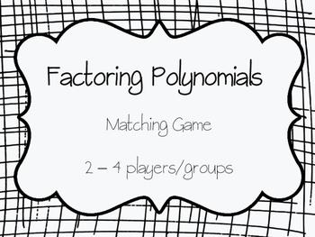 Factoring Polynomials Matching Game