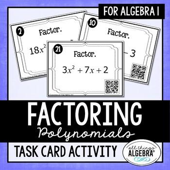 Factoring Polynomials Task Cards (Algebra 1)