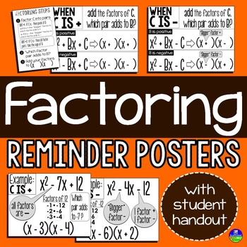 Factoring Posters {with student handouts}