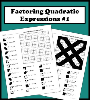 factoring quadratic expressions color worksheet 1 by aric thomas teachers pay teachers. Black Bedroom Furniture Sets. Home Design Ideas