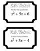 Factoring Quadratics Exit Ticket