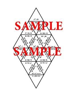 Factoring Quadratics Tarsia Puzzle