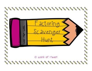 Factoring Scavenger Hunt