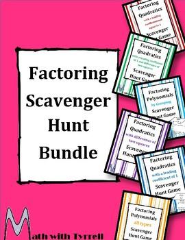 Factoring Scavenger Hunt Bundle