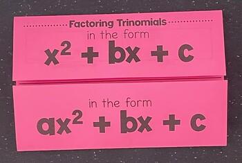 Factoring Trinomials (Foldable)