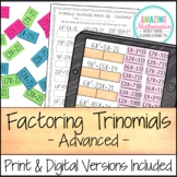 Factoring Trinomials Activity - Advanced