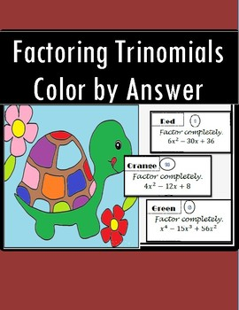 Factoring Trinomials - Color by Number