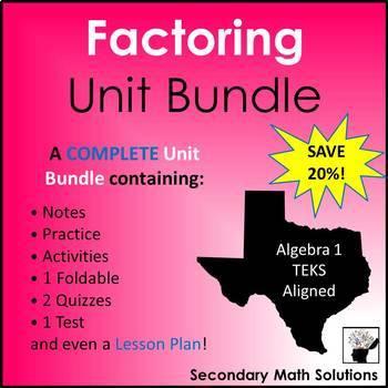 Factoring (Complete Unit Bundle)
