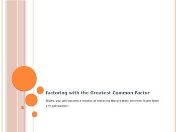 Factoring out a GCF