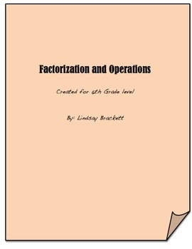 Factorization and Operations Unit