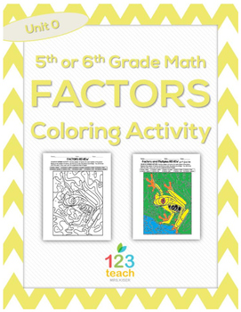 Factors Color by Number Activity Worksheet