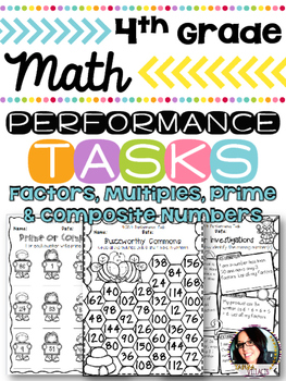 Factors, Multiples, Prime & Composite Numbers 4th Grade Pr
