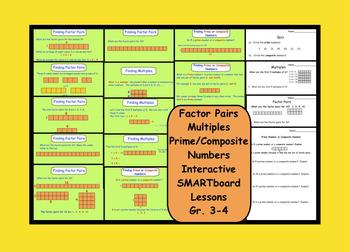 Factors, Multiples, Prime/Composite Numbers SMARTboard Les