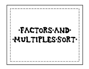 Factors & Multiples Sort