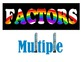 Factors & Multiples Vocab Memorization Trick-Practice Shee
