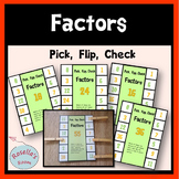 Factors Pick Flip Check