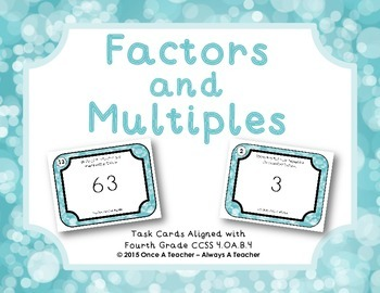 Factors and Multiples