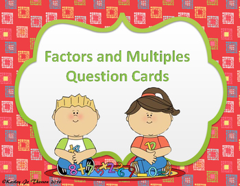 Factors and Multiples Question Cards
